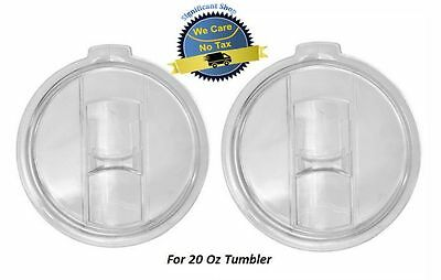2 Pack - 20 oz Spill Splash Proof Resistant For Lids Yeti Boss RTIC Tumblers Cup