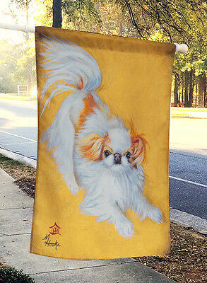 Japanese Chin Red White Play Flag Canvas House Size