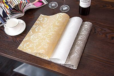 Up to 4 x Dining Table Mat Pad Placemat PVC Insulation Tableware AU Stock FastPo