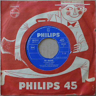 "7"" The 4 Seasons - Toy Soldier- Holland 1965 - VG+(+)"