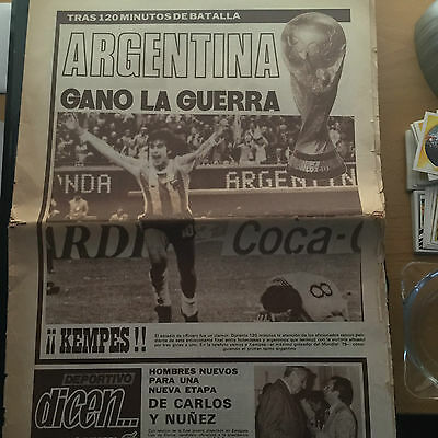 Final world cup 1978.Argentina 3 - Netherland 1. Spanish newspaper.06/25/78