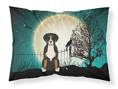 Halloween Scary Greater Swiss Mountain Dog Fabric Standard Pillowcase
