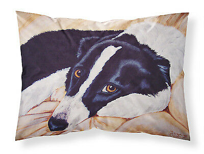 Naptime Border Collie Fabric Standard Pillowcase