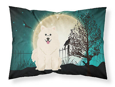 Halloween Scary Samoyed Fabric Standard Pillowcase