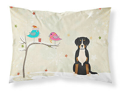 Christmas Presents between Friends Greater Swiss Mountain Dog Fabric Standard Pi