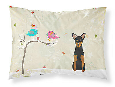 Christmas Presents between Friends Manchester Terrier Fabric Standard Pillowcase