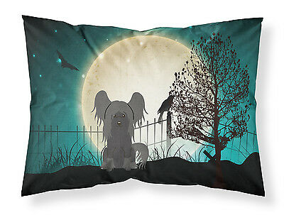 Halloween Scary Chinese Crested Black Fabric Standard Pillowcase