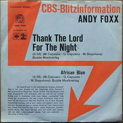 Andy Foxx - Thank The Lord For The Night - PROMP - NM