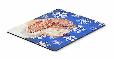 Petit Basset Griffon Vendeen Winter Snowflakes Mouse Pad, Hot Pad or Trivet