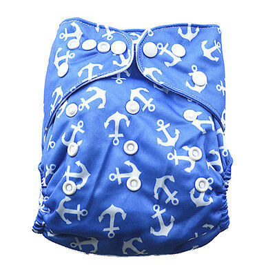 Pre-folds Modern Cloth Nappy Diaper Adjustable Washable Reusable + Thick Insert