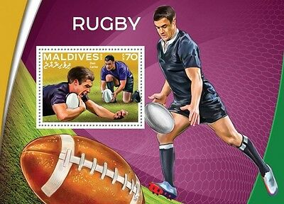 Z08 IMPERFORATED MLD16503b MALDIVES 2016 Rugby MNH