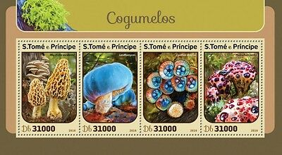 Z08 ST16404a Sao Tome and Principe 2016 Mushrooms MNH