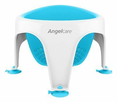 Angelcare Soft-Touch Bath Seat Aqua | Baby Support | Anti Slip | Mould Resistant