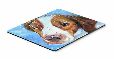 Snow Baby Brittany Spaniel Mouse Pad, Hot Pad or Trivet