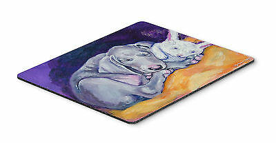 Weimaraner Snuggle Bunny Mouse Pad, Hot Pad or Trivet