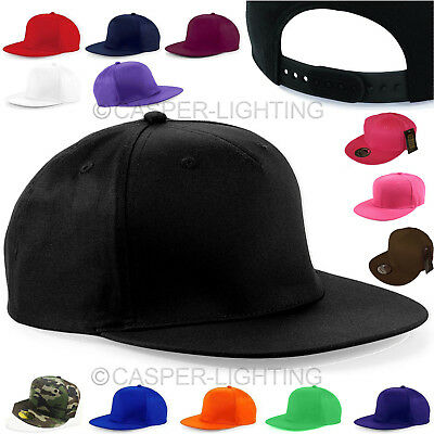 1Snapback Baseball Plain Cap Funky Hip Hop SP Retro Classic Vintage Flat Hat LOT