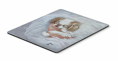 Japanese Chin in an Angels Arms Mouse Pad, Hot Pad or Trivet