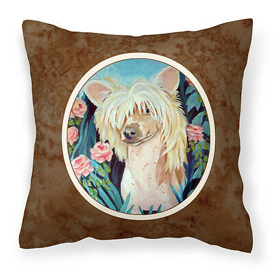 Carolines Treasures  7087PW1414 Chinese Crested Fabric Decorative Pillow