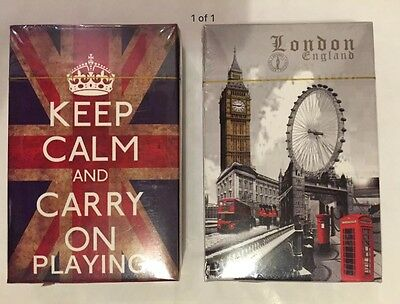 2 X Playing Cards Union Jack & London Icons Design British England Souvenir Gift