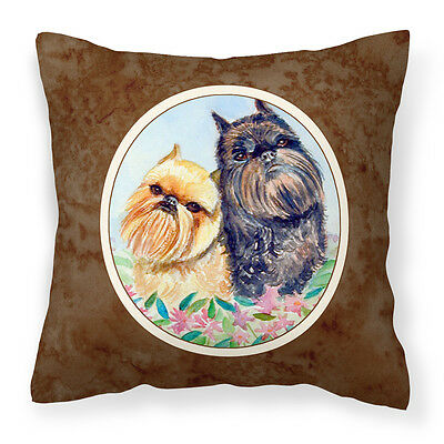 Carolines Treasures  7179PW1414 Brussels Griffon Fabric Decorative Pillow