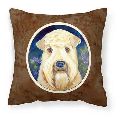 Wheaten Terrier Soft Coated Fabric Decorative Pillow