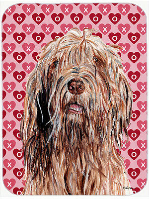 Otterhound Hearts and Love Glass Cutting Board Large Size