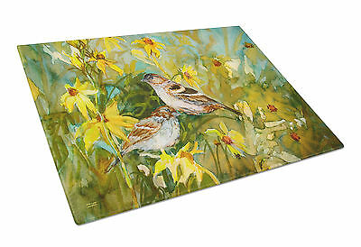 Carolines Treasures  PJC1111LCB Sparrows in the Field Glass Cutting Board Large
