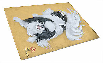 Japanese Chin Black White Play Glass Cutting Board Large