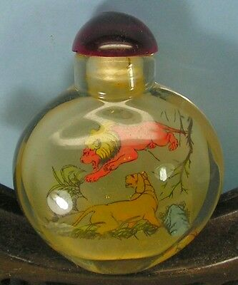Chinese  Inside Carved  Snuff Bottle  ( 中国 内绘画的鼻烟瓶)  ( f 043 )