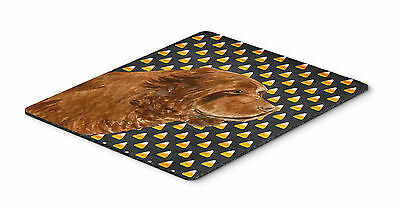Sussex Spaniel Candy Corn Halloween Portrait Mouse Pad, Hot Pad or Trivet