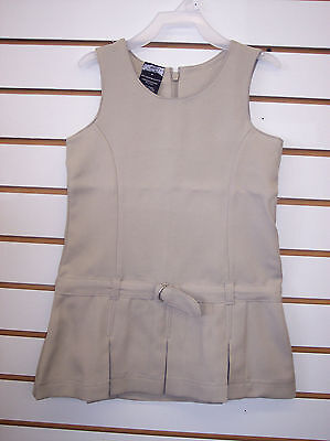 Girls School Uniform Jumper Dress Navy or Khaki Size 4 - 16