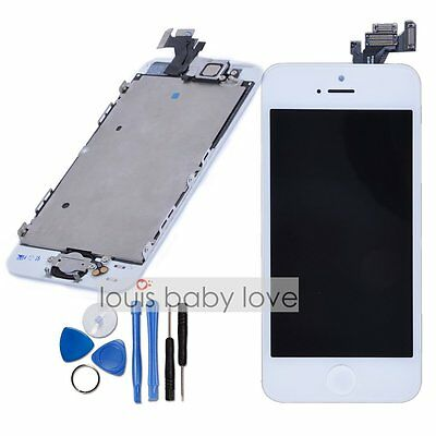For iPhone 5 LCD Touch Screen Digitizer Display Camera & Home Button Unit White