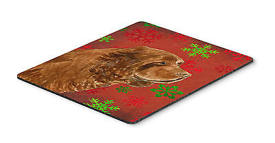 Sussex Spaniel Snowflakes Holiday Christmas Mouse Pad, Hot Pad or Trivet