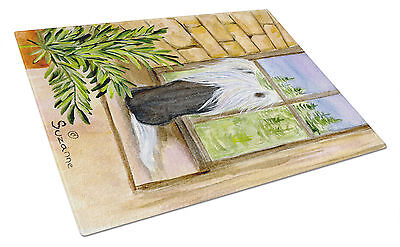 Carolines Treasures  SS8121LCB Chinese Crested Glass Cutting Board Large