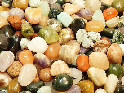Tumbled Crystals Mix 1/2Lb UNDYED Gemstones Rocks Stones Reiki Crystal Healing