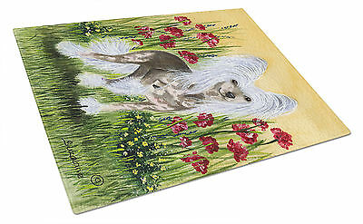 Carolines Treasures  SS8185LCB Chinese Crested Glass Cutting Board Large