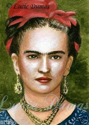 Frida Kahlo 3 ACEO art print from original painting by L.Dumas