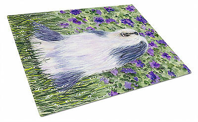 Carolines Treasures  SS8602LCB Bearded Collie Glass Cutting Board Large