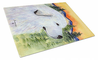 Carolines Treasures  SS8236LCB Great Pyrenees Glass Cutting Board Large