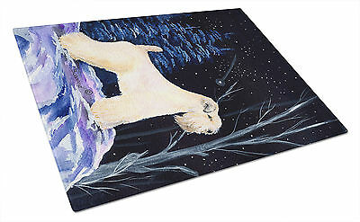 Starry Night Wheaten Terrier Soft Coated Glass Cutting Board Large
