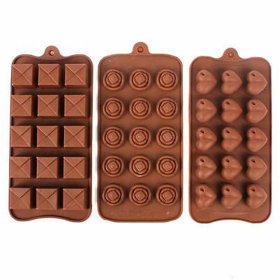 15 Sections Silicone Chocolate Mould Tray Jelly Ice Make Your Own Treats x 1