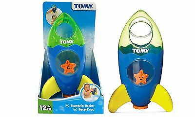 TOMY 72357 Rocket Fountain Childrens Bath or Pool Toy Bath Time Fun Blue