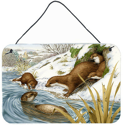 Carolines Treasures  ASA2186DS812 Playtime Otters Wall or Door Hanging Prints