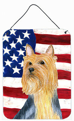 USA American Flag with Silky Terrier Wall or Door Hanging Prints