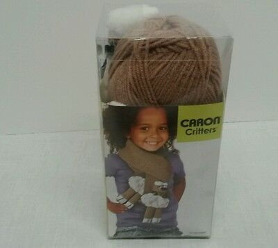 New Caron Critters Brown Sheep Scarf Kit
