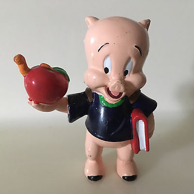 Porky Pig School Boy Warner Brother PVC Figure Toy 1995 Cake Topper Looney Tunes
