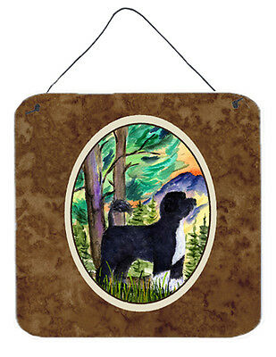 Portuguese Water Dog Aluminium Metal Wall or Door Hanging Prints