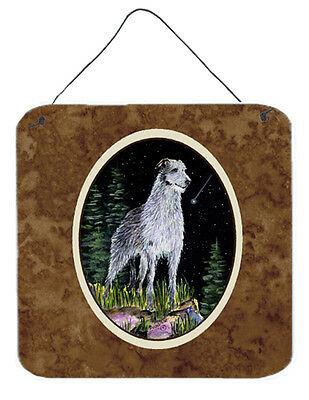 Starry Night Scottish Deerhound Aluminium Metal Wall or Door Hanging Prints