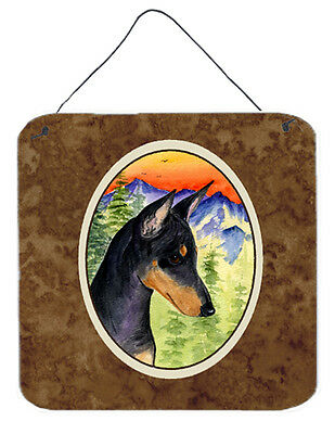 Manchester Terrier Aluminium Metal Wall or Door Hanging Prints