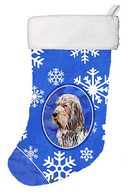 Carolines Treasures  SC9780-CS Otterhound Winter Snowflakes Christmas Stocking